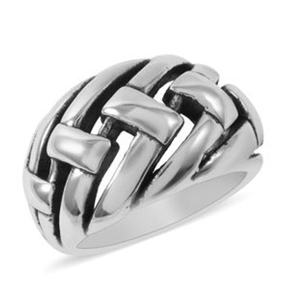 Braided Ring in Sterling Silver 5.53 Grams (Size 7,9))