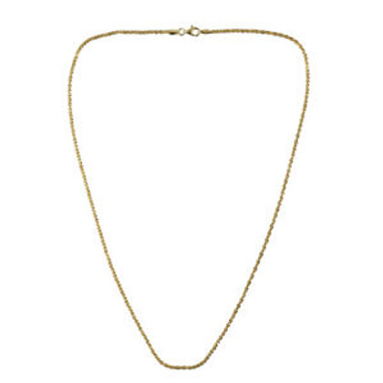 Italian Sparkle Chain 20 Inch in 14K Yellow Gold Over Sterling Silver 5.5 Grams