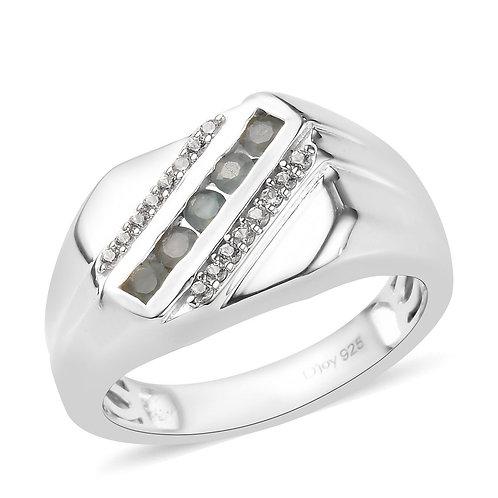 Alexandrite, Zircon Men's Ring.  Sizes 10, 12.  0.60 CTW
