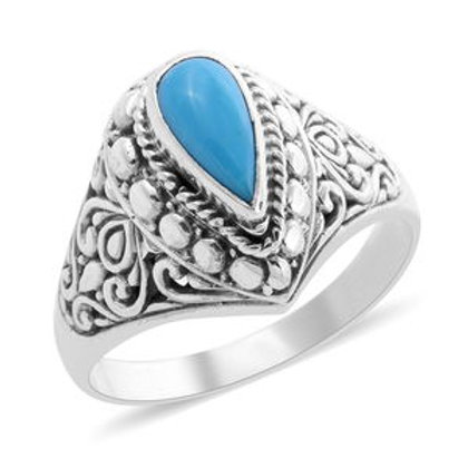 1.09 ctw Arizona Sleeping Beauty Turquoise Ring Size 8 in Sterling Silver