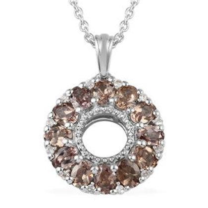 Color Change Garnet, Zircon Pendant Necklace (20 in)