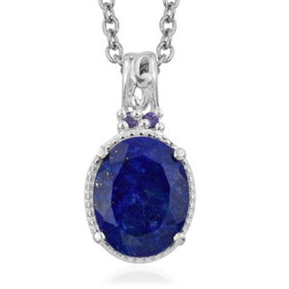 Lapis Pendant Necklace (20 in) in Sterling