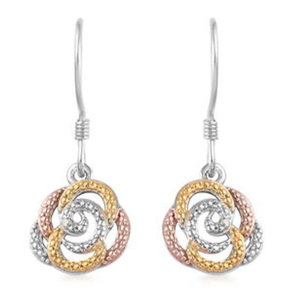 Diamond Accent  Sterling Silver Earrings
