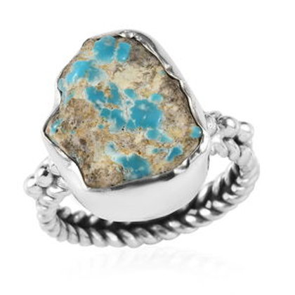Artisan Crafted 9.38 ctw South Hill Turquoise Ring Size 7