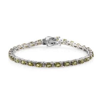 7.85 ctw Demantoid Garnet and Zircon Tennis Bracelet