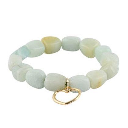 215 ctw Russian Amazonite Charm Bracelet