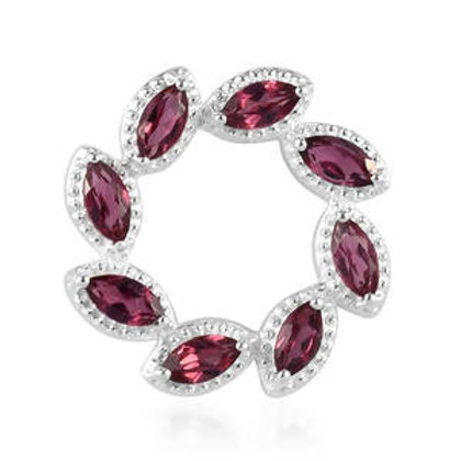 1.56 CTW Rose Garnet Pendant in Sterling Silver