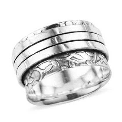 Artisan Crafted Spinner Ring in Sterling Silver 4.55 g