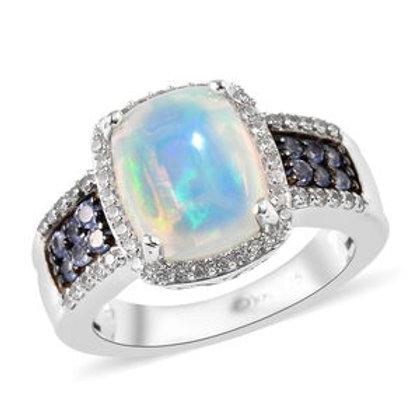 Ethiopian Welo Opal, Multi Gemstone Ring (size 6)