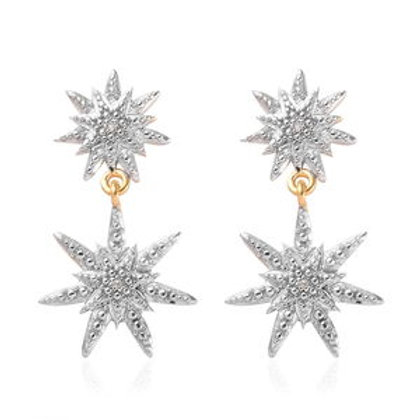 Diamond Accent Earrings in 14K YG Over Sterling Silver