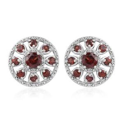 10.94 CTW Mozambique Garnet and Zircon Earrings