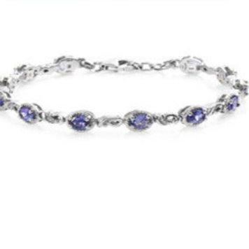 AAA Premium Tanzanite Bracelet.  3.00 CTW
