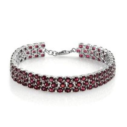 20.52 CTW Rhodolite Garnet Bracelet in Sterling Silver