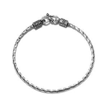 Artisan Crafted Serpentine S-Hook Bracelet in Sterling Silver 6.13 Grams (7.25)