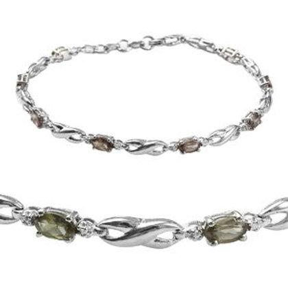 2.35 ctw Color Change Garnet Bracelet in Platinum Over Sterling Silver (7.25 In)