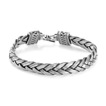 Artisan Crafted Braided Bracelet Sterling Silver 31.19 Grams
