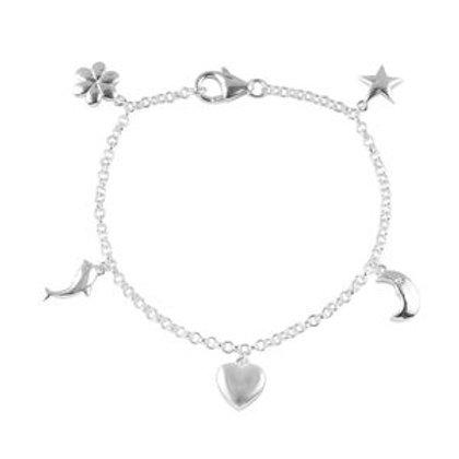 Charm Bracelet in Sterling Silver 3.1 Grams