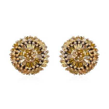 Yellow Diamond (IR) Stud Earrings.  0.50 CTW