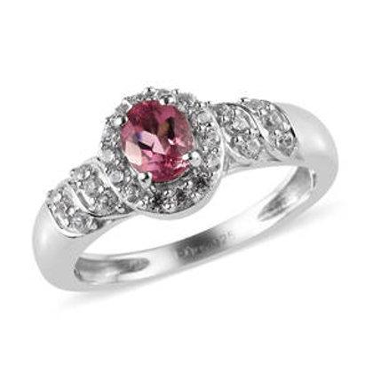 0.75 CTW Pink Tourmaline Ring Size 8