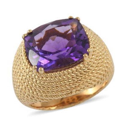 Elegant Amethyst Ring 3.91 CTW Size 6