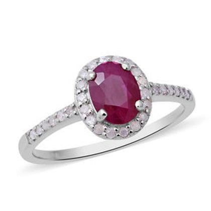 Burmese Ruby and Diamond Ring