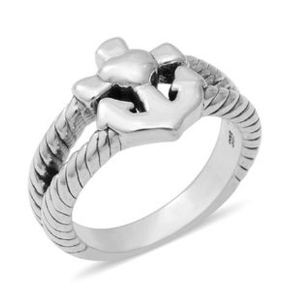 Anchor Ring Size 6 in Sterling Silver 3.93 Grams