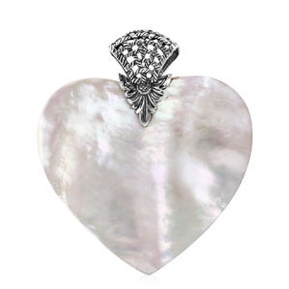 Mother of Pearl Pendant in Sterling Silver