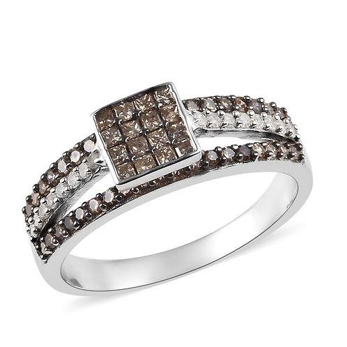 Natural Champagne Diamond, Diamond Ring
