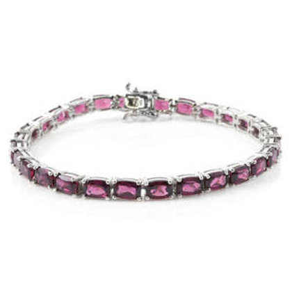 18.75 ctw Rhodolite Garnet Cushion Cut Tennis Bracelet
