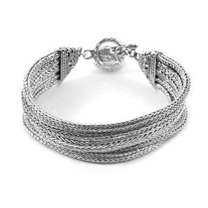 BALI LEGACY Tulang Naga Multi Strand Toggle Clasp Bracelet (7.25 in)