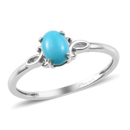 Arizona Sleeping Beauty Turquoise Ring (10).  0.73 CTW