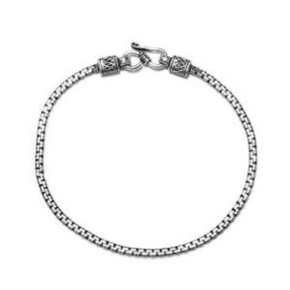 Artisan Crafted Venetian S-Hook Bracelet in Sterling Silver 6.13 Grams
