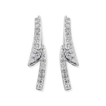 0.18 CTW Diamond Earrings in Sterling Silver