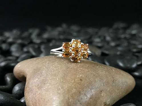 Serra Gaucha Citrine Ring.  Size 5.  1.10 CTW