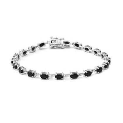 6.50 ctw Black Sapphire Bracelet