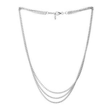 Italian Triple Strand Franco Necklace (18 Inch)