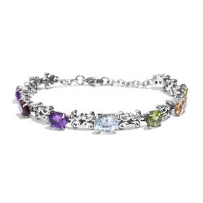 Sky Blue Topaz, Multi Gemstone Bracelet.  10.50 CTW