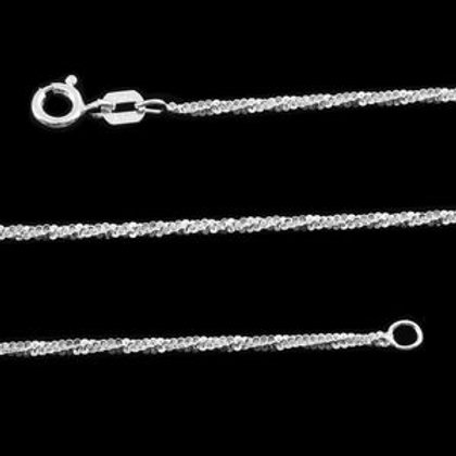 Italian Sterling Silver Sparkle Chain 30 Inch 3.6 g