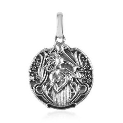 Artisan Crafted Fairy Pendant in Sterling Silver 4.13 g