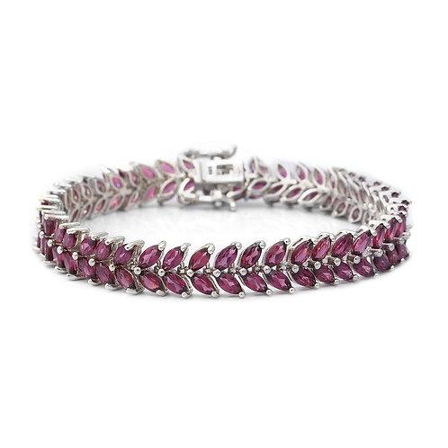 20.00 ctw Orissa Rhodolite Garnet Bracelet (8.00 inch)