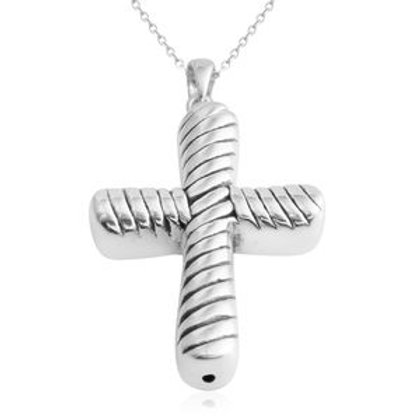 Cross Pendant Necklace 18 inch in Sterling Silver 3.1 grams