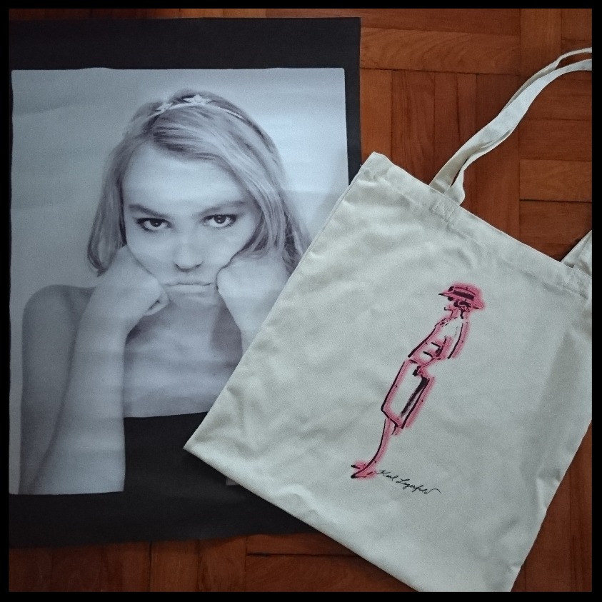 tote bag and poster