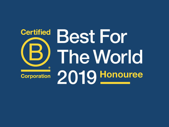 Winner of Best of B Corp for the 4th year in a row