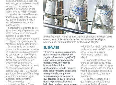 Andes recognized for its sustainibility by El Mercurio