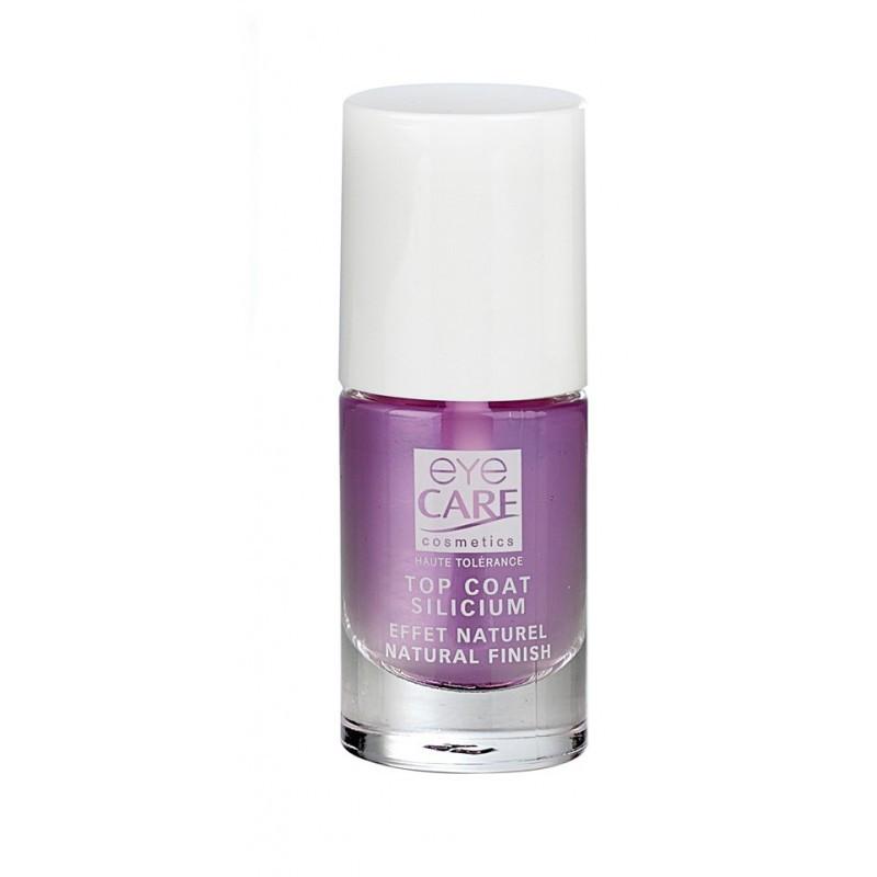 Top-coat silicium pour un maquillage des ongles fragiles