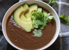Antioxidant-Packed Black Bean Soup