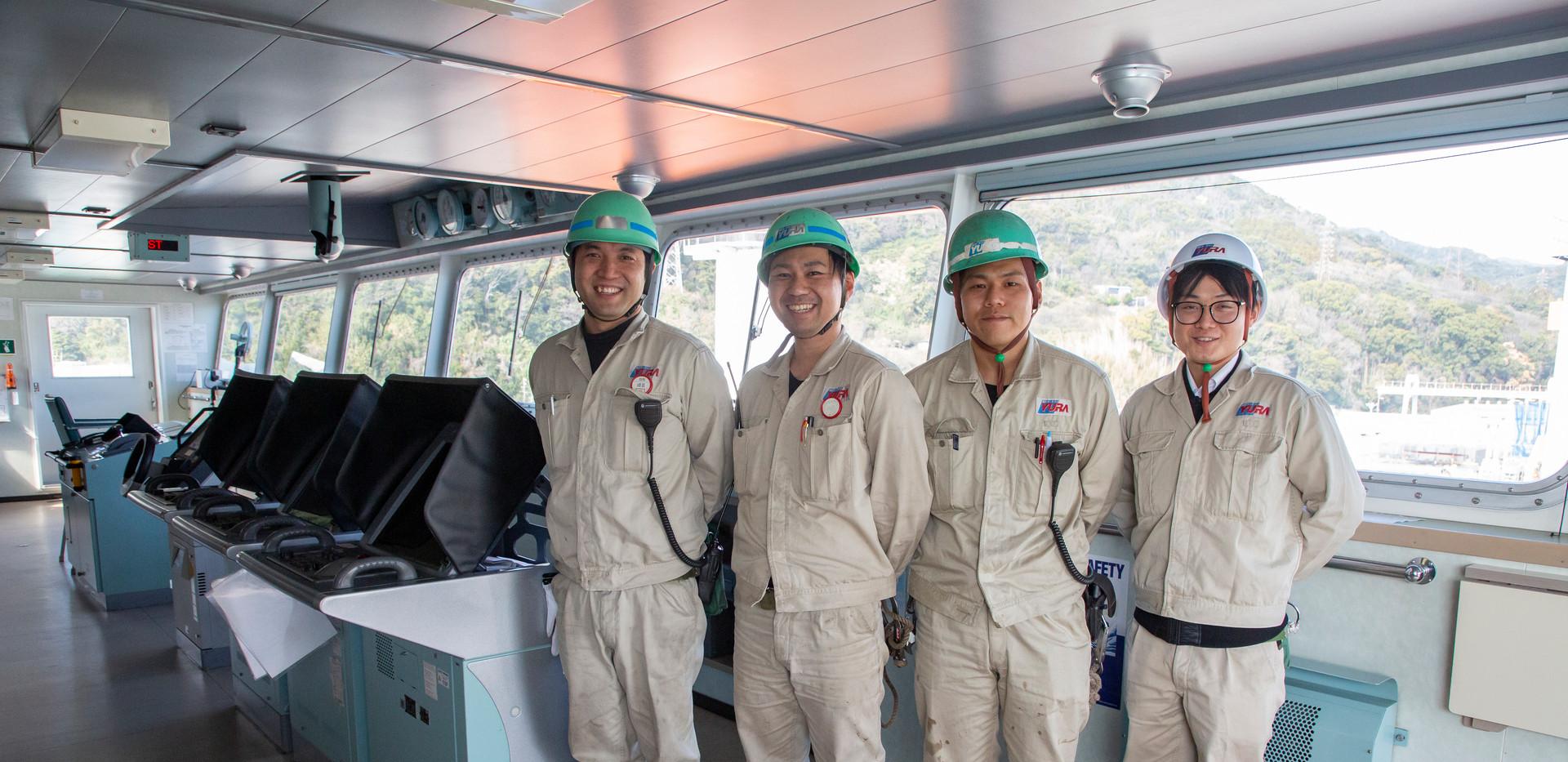 修繕船各担当者 営業・技術(船体・機関・電気)