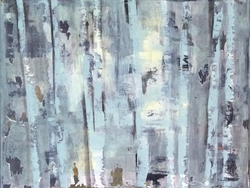2015 birches I (acrylic on canvas)