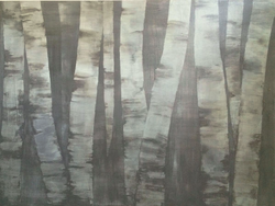 2015 birches II (acrylic on canvas)