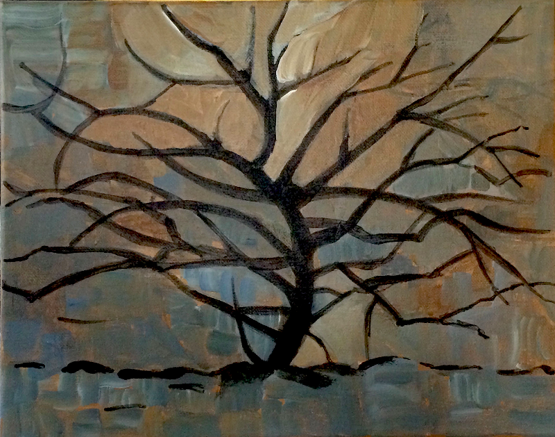 2015 tree I (after Mondrian)